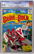 Silver Age (1956-1969):Adventure, The Brave and the Bold #7 (DC, 1956) CGC VF+ 8.5 Off-white pages....