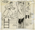 Original Comic Art:Covers, Al Avison (attributed) - Dick Tracy Comics Monthly #25 CoverOriginal Art (Harvey, 1950). ...