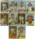 Baseball Cards:Sets, 1954 Bowman Baseball Complete Set (224). Bowman's 1954 release boasts 224 full-color cards. Contractual problems most likely...