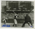 "Autographs:Photos, Bob Feller Signed Photograph. Nice clear blue sharpie signature(9+/10) on the offered 8x10"" black and white print. Portray..."