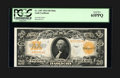 Large Size:Gold Certificates, Fr. 1187 $20 1922 Mule Gold Certificate PCGS Gem New 65PPQ....