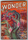 Platinum Age (1897-1937):Miscellaneous, Thrilling Wonder Stories V10#1 (Thrilling, 1937) Condition: VG....
