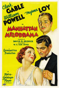 "Movie Posters:Crime, Manhattan Melodrama (MGM, 1934). One Sheet (27"" X 41"") Style C. ..."