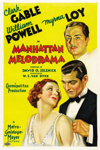 "Manhattan Melodrama (MGM, 1934). One Sheet (27"" X 41"") Style C"