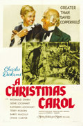 "Movie Posters:Drama, A Christmas Carol (MGM, 1938). One Sheet (27"" X 41"") Style C. ..."