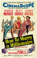 "Movie Posters:Comedy, How to Marry a Millionaire (20th Century Fox, 1953). One Sheet (27""X 41""). ..."
