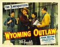 "Movie Posters:Western, Wyoming Outlaw (Republic, 1939). Title Lobby Card (11"" X 14"")...."