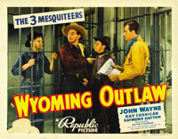 "Wyoming Outlaw (Republic, 1939). Title Lobby Card (11"" X 14"")"