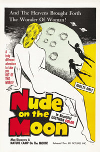 "Nude on the Moon (J.E.R. Pictures, 1961). One Sheet (27"" X 41"")"