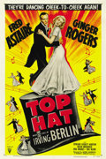"Movie Posters:Musical, Top Hat (RKO, R-1953). One Sheet (27"" X 41""). ..."