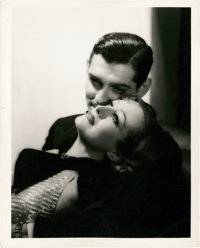 "Joan Crawford and Clark Gable in ""Dancing Lady"" by George Hurrell (MGM, 1933). Portrait (8"" X 10"")..."