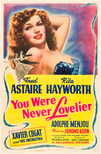 """You Were Never Lovelier (Columbia, 1942). One Sheet (27"""" X 41"""") Style B"""