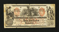 Confederate Notes:1861 Issues, CT22/152D $10 1861.. ...