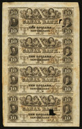 Obsoletes By State:Louisiana, New Orleans, LA- Canal Bank $10-$10-$10-$10 June 1, 1846 Uncut Sheet. ...