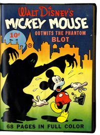 Four Color (Series One) #16 Mickey Mouse Bound Volume (Dell, 1941)