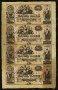 Obsoletes By State:Louisiana, New Orleans, LA- Canal and Banking Co. $20-$20-$20-$20 Uncut Sheet. ...