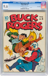Buck Rogers #6 Central Valley pedigree (Eastern Color, 1943) CGC NM+ 9.6 Off-white to white pages