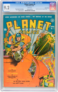 Planet Comics #4 Central Valley pedigree (Fiction House, 1940) CGC NM- 9.2 White pages