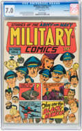 Golden Age (1938-1955):War, Military Comics #12 Pennsylvania pedigree (Quality, 1942) CGC FN/VF7.0 White pages....
