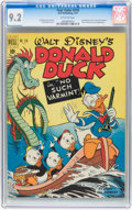 Golden Age (1938-1955):Cartoon Character, Four Color #318 Donald Duck (Dell, 1951) CGC NM- 9.2 Off-white pages....