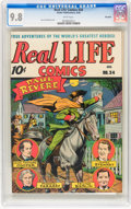 Golden Age (1938-1955):Miscellaneous, Real Life Comics #34 Big Apple pedigree (Nedor Publications, 1946) CGC NM/MT 9.8 White pages....