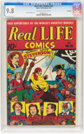 Golden Age (1938-1955):Miscellaneous, Real Life Comics #33 Big Apple pedigree (Nedor Publications, 1946) CGC NM/MT 9.8 Off-white to white pages....