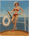 Original Comic Art:Miscellaneous, Airbrushed Pin-Up Photograph Production Art (undated)....