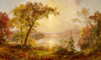 FROM THE ESTATE OF MARY ELLEN BUNYARD  JASPER FRANCIS CROPSEY (American, 1823-1900) Greenwood Lake, Autum