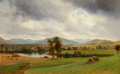 Paintings, FROM THE ESTATE OF MARY ELLEN BUNYARD. DAVID JOHNSON (American, 1827-1908). Untitled (Pastoral Scene), 1867. Oil on ca...