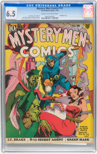 Mystery Men Comics #10 (Fox, 1940) CGC FN+ 6.5 Cream to off-white pages