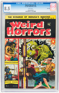 Weird Horrors #5 River City pedigree (St. John, 1952) CGC VF+ 8.5 White pages