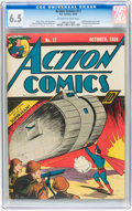 Golden Age (1938-1955):Superhero, Action Comics #17 (DC, 1939) CGC FN+ 6.5 Off-white to white pages....