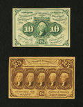 Fractional Currency:First Issue, 10c and 25c First Issue Notes.. ... (Total: 2 notes)