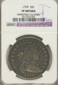 Early Dollars, 1799 $1 Irregular Date, 13 Stars Reverse--Improperly Cleaned--NGC.VF Details....
