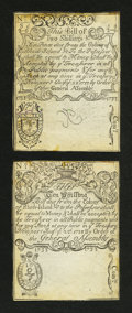 Colonial Notes:Rhode Island, Cohen Reprint Rhode Island August 22, 1738 2s/6d New. Cohen ReprintRhode Island August 22, 1738 10s About New.... (Total: 2 notes)
