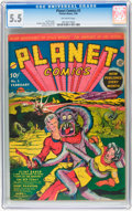 Golden Age (1938-1955):Science Fiction, Planet Comics #2 (Fiction House, 1940) CGC FN- 5.5 Off-white pages....