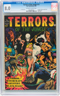 Golden Age (1938-1955):Horror, Terrors of the Jungle #17 (#1) (Star, 1952) CGC VF 8.0 Off-white towhite pages....