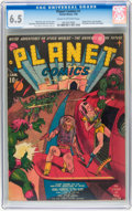 Golden Age (1938-1955):Science Fiction, Planet Comics #1 (Fiction House, 1940) CGC FN+ 6.5 Cream to off-white pages....