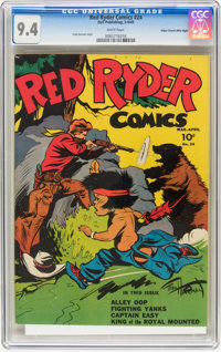 Red Ryder Comics #24 Mile High pedigree (Dell, 1945) CGC NM 9.4 White pages
