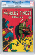 Golden Age (1938-1955):Superhero, World's Finest Comics #31 Mile High pedigree (DC, 1947) CGC VF 8.0 Off-white to white pages....