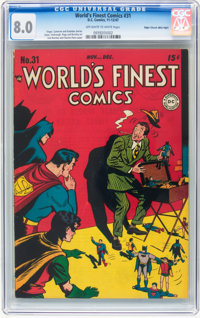 World's Finest Comics #31 Mile High pedigree (DC, 1947) CGC VF 8.0 Off-white to white pages