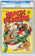Golden Age (1938-1955):Science Fiction, Buck Rogers #5 (Eastern Color, 1943) CGC NM- 9.2 Off-white to whitepages....