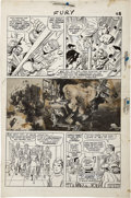Original Comic Art:Panel Pages, Jack Kirby and Dick Ayers Sgt. Fury #13 Page 22 Original Art(Marvel, 1964)....
