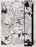 Original Comic Art:Splash Pages, Jim Lee X-Men #9 Splash Page 2 and 3 Two-page SpreadOriginal Art (Marvel, 1992)....