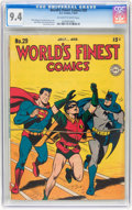 Golden Age (1938-1955):Superhero, World's Finest Comics #29 (DC, 1947) CGC NM 9.4 Off-white to white pages....