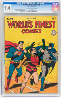 World's Finest Comics #29 (DC, 1947) CGC NM 9.4 Off-white to white pages