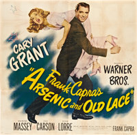 "Arsenic and Old Lace (Warner Brothers, 1944). Six Sheet (81"" X 81"")"