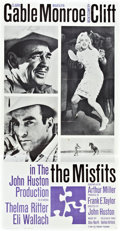 "Movie Posters:Drama, The Misfits (United Artists, 1961). Three Sheet (41"" X 81"").. ..."