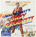 "Movie Posters:Western, Davy Crockett, King of the Wild Frontier (Buena Vista, 1955). SixSheet (81"" X 81"").. ..."