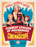 """Movie Posters:Comedy, How to Marry a Millionaire (20th Century Fox, R-1950s). French Grande (47"""" X 63"""").. ..."""